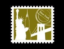 νέο γραμματόσημο Υόρκη Στοκ εικόνα με δικαίωμα ελεύθερης χρήσης