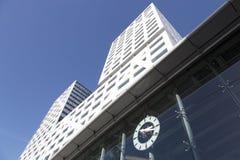 Νέο γραφείο Ουτρέχτη πόλεων επάνω από την είσοδο στο κεντρικό statio σιδηροδρόμων Στοκ Φωτογραφία