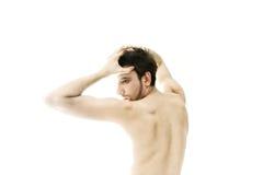 Νέο γυμνό χορεύοντας άτομο Στοκ φωτογραφία με δικαίωμα ελεύθερης χρήσης