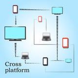 Νέο δίκτυο για τη διαγώνια πλατφόρμα διανυσματική απεικόνιση