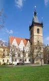 Νέο Δημαρχείο στην Πράγα Στοκ Εικόνες