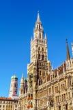 Νέο Δημαρχείο Neues Rathaus σε Marienplatz στο Μόναχο Στοκ εικόνα με δικαίωμα ελεύθερης χρήσης