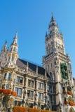 Νέο Δημαρχείο Neues Rathaus σε Marienplatz στο Μόναχο Στοκ Εικόνες