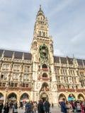 Νέο Δημαρχείο, Neues Rathaus, στο Μόναχο, Γερμανία Στοκ Εικόνες