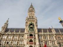 Νέο Δημαρχείο, Neues Rathaus, στο Μόναχο, Γερμανία Στοκ φωτογραφία με δικαίωμα ελεύθερης χρήσης