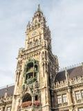 Νέο Δημαρχείο, Neues Rathaus, στο Μόναχο, Γερμανία Στοκ εικόνα με δικαίωμα ελεύθερης χρήσης