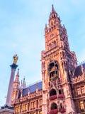 Νέο Δημαρχείο, Neues Rathaus, στο Μόναχο, Γερμανία Στοκ φωτογραφίες με δικαίωμα ελεύθερης χρήσης