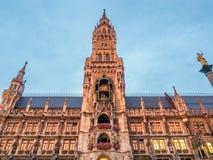 Νέο Δημαρχείο, Neues Rathaus, στο Μόναχο, Γερμανία Στοκ εικόνες με δικαίωμα ελεύθερης χρήσης