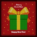 Νέο δώρο έτους ` s συσκευασία Νέα ανασκόπηση έτους `s Στοκ Εικόνα