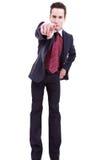 Νέο επιχειρησιακό άτομο στο κοστούμι που δείχνει σε σας Στοκ Εικόνες