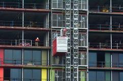 Νέο εργοτάξιο οικοδομής οικοδόμησης Στοκ φωτογραφία με δικαίωμα ελεύθερης χρήσης