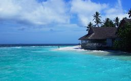 Νέο εστιατόριο, νέο θέρετρο νησιών, Μαλδίβες Στοκ Εικόνες