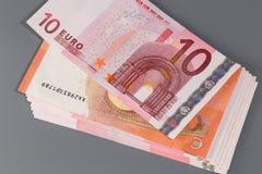 Νέο ευρο- τραπεζογραμμάτιο δέκα Στοκ Εικόνες
