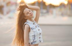 Νέο ευρωπαϊκό ελκυστικό προκλητικό πρότυπο μόδας Στοκ Φωτογραφίες