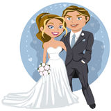 Νέο γαμήλιο ζεύγος απεικόνιση αποθεμάτων