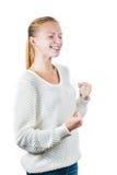 Νέο ευτυχές κορίτσι Στοκ φωτογραφίες με δικαίωμα ελεύθερης χρήσης