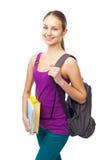 Νέο ευτυχές χαμογελώντας κορίτσι σπουδαστών στοκ φωτογραφία με δικαίωμα ελεύθερης χρήσης