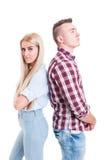 Νέο ζεύγος μετά από τη φιλονικία, τη διαφωνία ή την πάλη Στοκ φωτογραφία με δικαίωμα ελεύθερης χρήσης