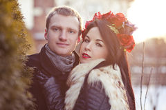 Νέο ζεύγος Στοκ εικόνες με δικαίωμα ελεύθερης χρήσης