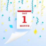 Νέο ημερολόγιο ημερομηνίας απεικόνιση αποθεμάτων