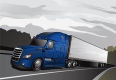 Νέο ημι Truck_Full-Blue Απεικόνιση αποθεμάτων