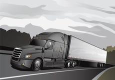 Νέο ημι Truck_Full-Grey Διανυσματική απεικόνιση