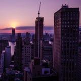 νέο ηλιοβασίλεμα Υόρκη πό&lam Στοκ εικόνα με δικαίωμα ελεύθερης χρήσης