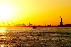 νέο ηλιοβασίλεμα Υόρκη Στοκ εικόνες με δικαίωμα ελεύθερης χρήσης
