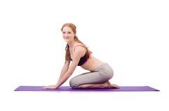 Νέο θηλυκό που κάνει τις ασκήσεις Στοκ φωτογραφία με δικαίωμα ελεύθερης χρήσης