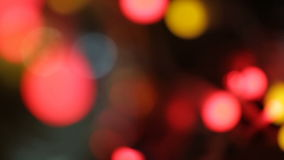 Νέο θολωμένο περίληψη υπόβαθρο διακοσμήσεων οδών έτους και Χριστουγέννων φιλμ μικρού μήκους