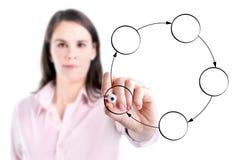 Νέο διάγραμμα κύκλων σχεδίων επιχειρησιακών γυναικών. Στοκ φωτογραφία με δικαίωμα ελεύθερης χρήσης