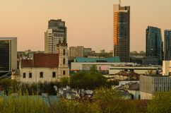 Νέο κέντρο Vilnius, Λιθουανία Στοκ Εικόνα