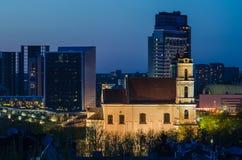 Νέο κέντρο Vilnius, Λιθουανία Στοκ Εικόνες