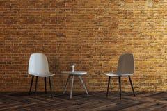 Νέο καθιστικό τούβλου ελεύθερη απεικόνιση δικαιώματος
