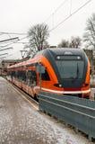 Νέο καινοτόμο σύγχρονο τραίνο στοκ εικόνες με δικαίωμα ελεύθερης χρήσης