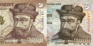 Νέο και παλαιό ουγγρικό forint, 2000 Στοκ Εικόνα