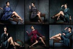 Νέο και όμορφο πρότυπο σύνολο μόδας Στοκ Εικόνες