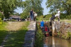 Νέο κανάλι Llangollen κλειδαριών marton τοπ στοκ εικόνες