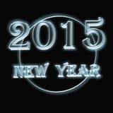 Νέο κείμενο έτους 2015 στο μαύρο υπόβαθρο Στοκ Φωτογραφίες