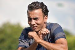 Νέο κολομβιανό αρσενικό και φόβος στοκ φωτογραφία με δικαίωμα ελεύθερης χρήσης