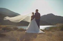 Νέο κομψό γαμήλιο ζεύγος στοκ φωτογραφίες με δικαίωμα ελεύθερης χρήσης