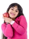 Νέο κορίτσι με το μήλο Στοκ Εικόνες