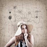 Νέο κορίτσι ονειροπόλων Στοκ εικόνες με δικαίωμα ελεύθερης χρήσης