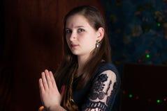 Νέο κορίτσι σε Ugadi Στοκ φωτογραφία με δικαίωμα ελεύθερης χρήσης