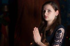 Νέο κορίτσι σε Ugadi Στοκ φωτογραφίες με δικαίωμα ελεύθερης χρήσης