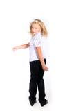 Νέο κορίτσι στη σχολική στολή Στοκ Φωτογραφία