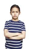 Νέο κορίτσι λυπημένο και που ανατρέπεται Στοκ Φωτογραφίες