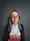 Νέο κορίτσι nerd Στοκ φωτογραφίες με δικαίωμα ελεύθερης χρήσης