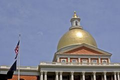 νέο κράτος της Μασαχουσέτης σπιτιών της Βοστώνης Στοκ Εικόνα