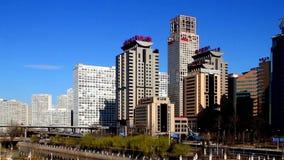 Νέο κτήριο σε CBD Guomao στο Πεκίνο, Κίνα απόθεμα βίντεο